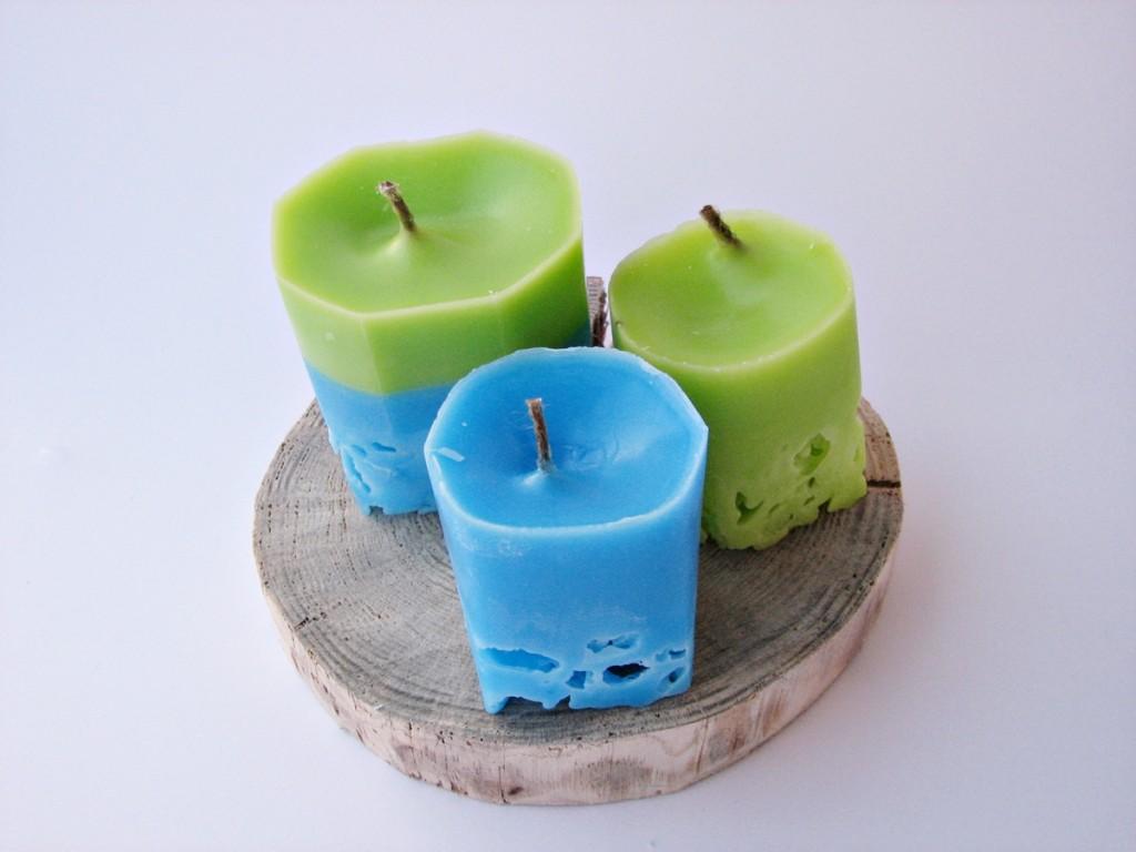 Świeczki z lodu