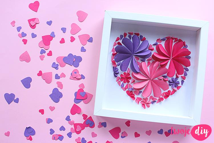 Obrazek z papierowych serc