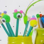 Ołówki z pomponikiem