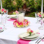 kwiatowe dekoracje na stol 2