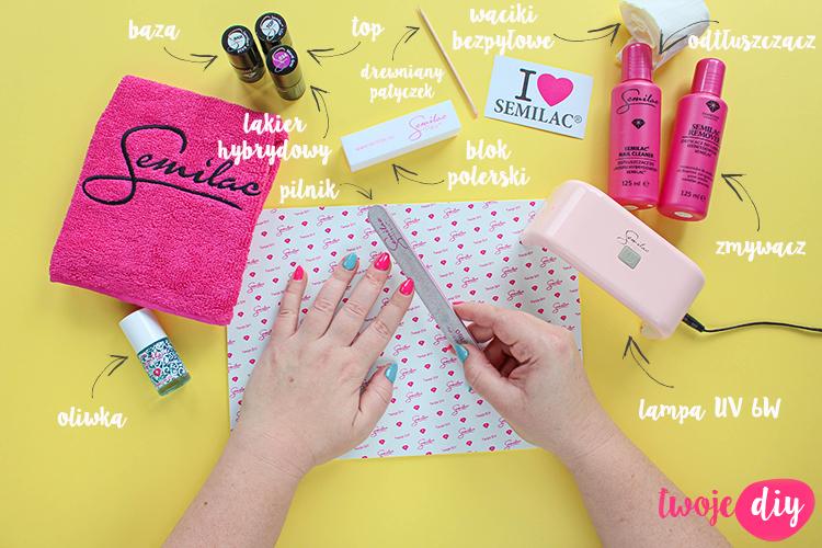zestaw do manicure hybrydowego