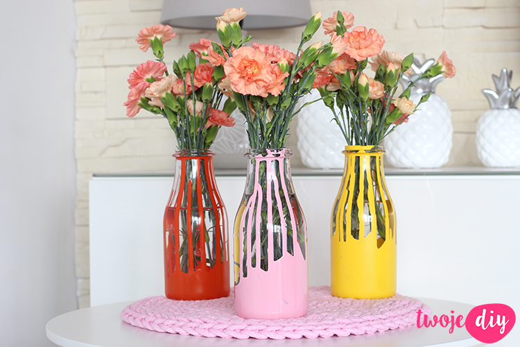 Kolorowe wazoniki DIY