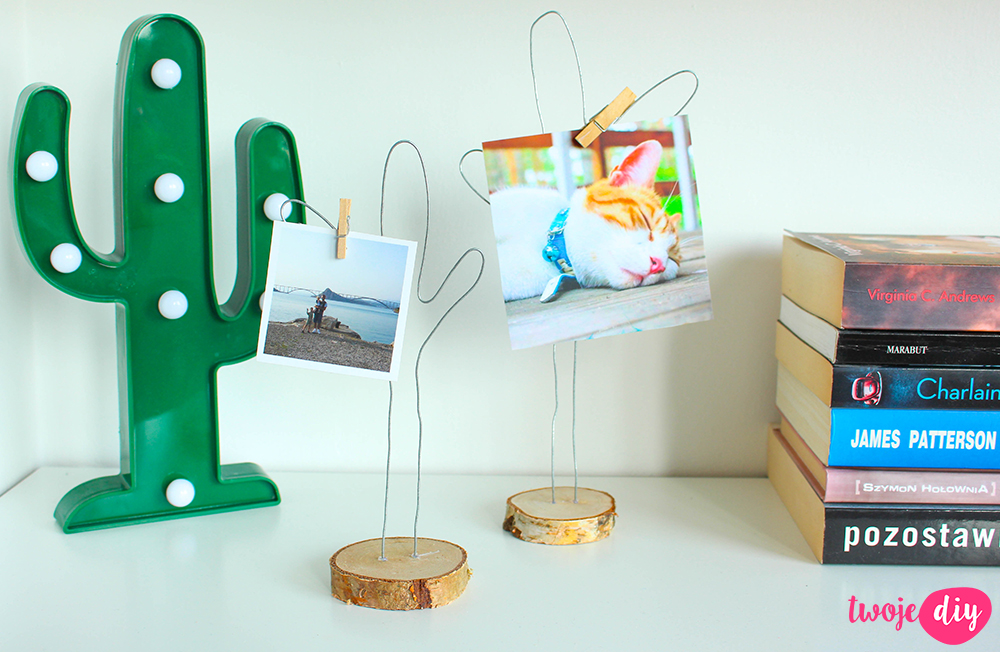 Podstawki do zdjęć DIY