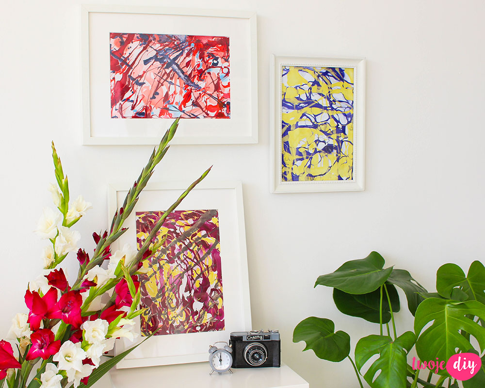 Marmurkowe obrazki DIY