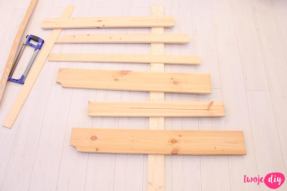 drewniana choinka
