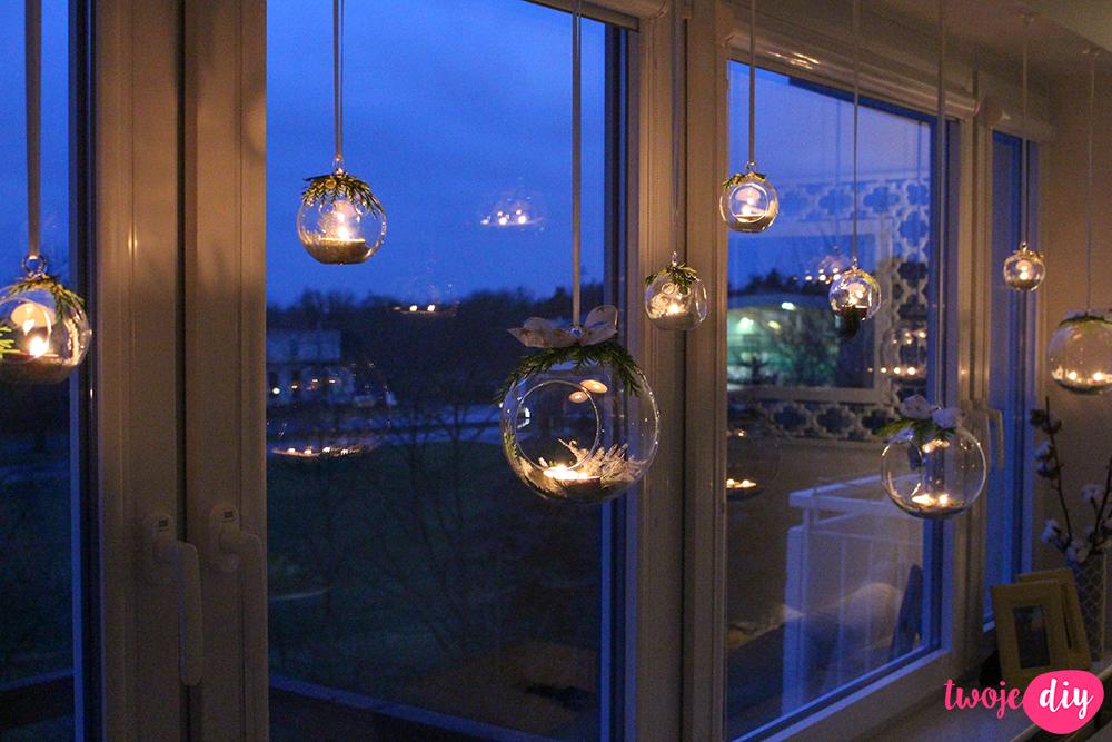 Wiszące lampiony szklane