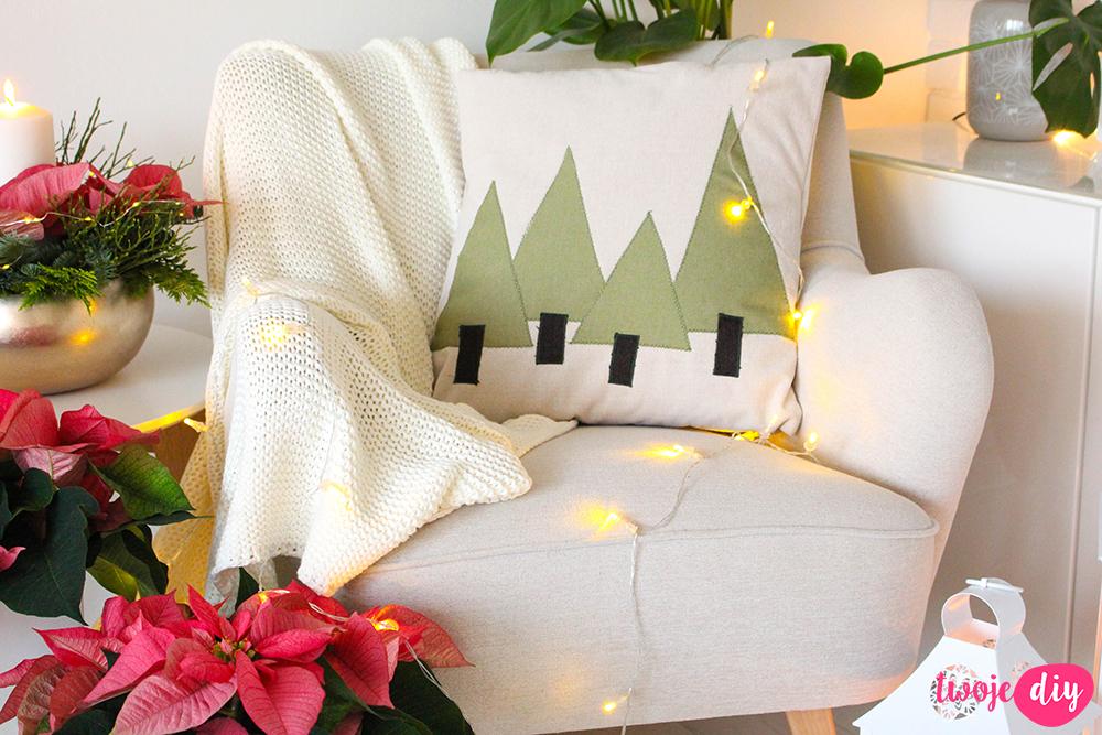 świąteczne poduszki diy