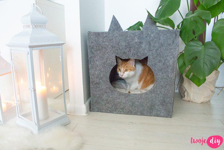 Filcowa buda dla kota diy