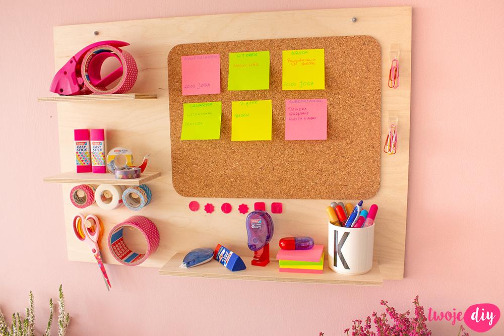 Organizer na ścianę DIY
