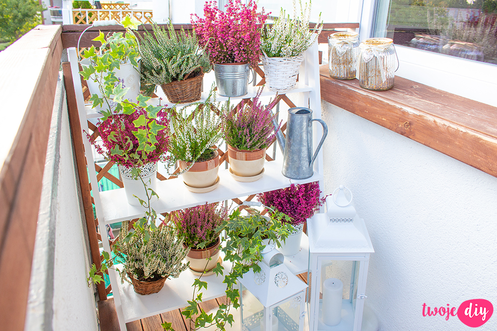 Półka na balkon DIY