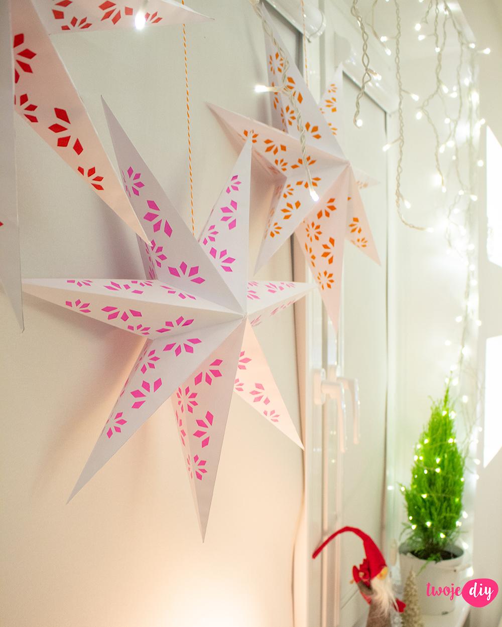 Gwiazda z papieru diy