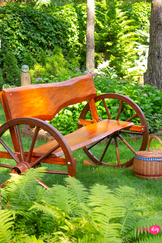 Ławka ogrodowa DIY