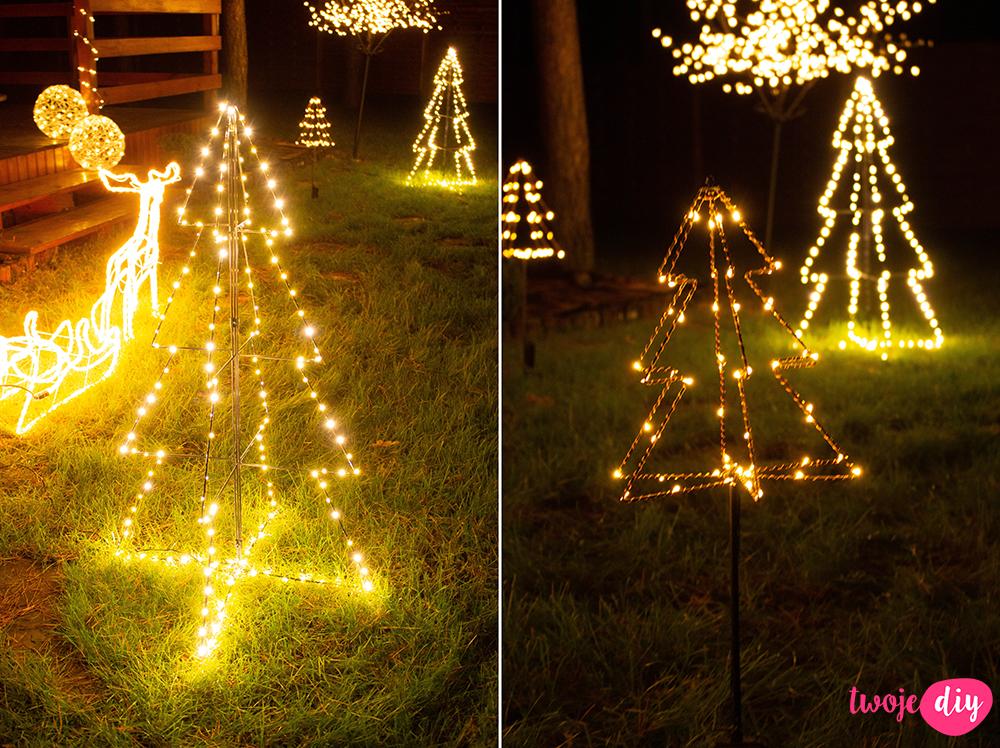 Świąteczne oświetlenie domu na zewnątrz